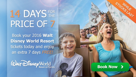 2016 Disney Florida Ticket Offer - 14 Days for 7!