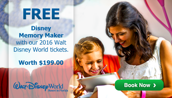 FREE Disney Memory Maker worth $199 with adult 2016 Disney Tickets