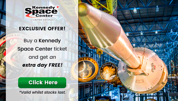 Enjoy a 2nd day's admission for at Kennedy Space Center FREE!
