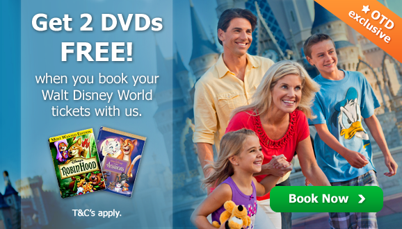 2 free Disney DVD's with every Walt Disney World Booking