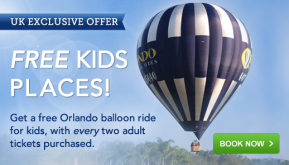 Orlando Balloon Flights just £99 PLUS FREE Kids Places!