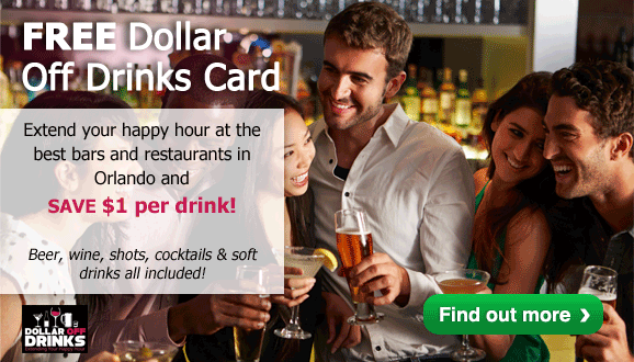 FREE Dollar Off Drinks Card with every Disney, Universal or SeaWorld Ticket