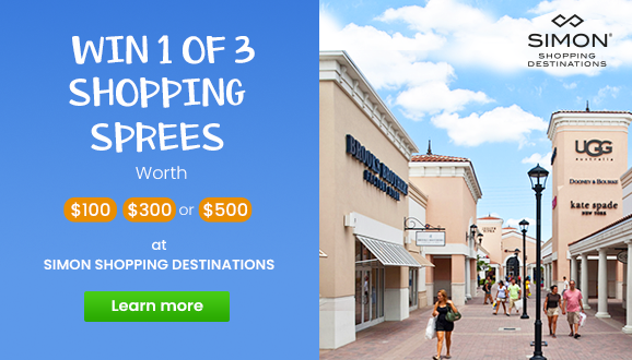 WIN One Of Three Shopping Sprees!