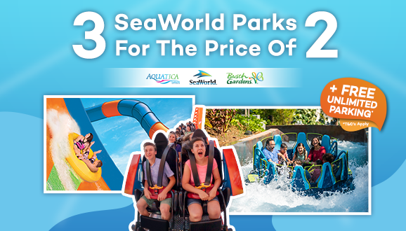 Get Unlimited FREE parking at SeaWorld, Aquatica and Busch Gardens