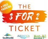 SeaWorld 3 for 2 Ticket with Unlimited FREE Parking
