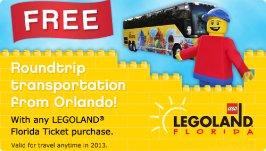 Free Transportation to LEGOLAND Florida