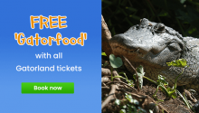 Free Gator Food with all Gatorland Bookings