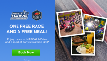 Free I-Drive NASCAR Go Karting Race and a Free Meal