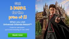 Get 3 Parks for the Price of 2 at Universal Orlando Resort!