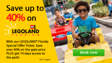 Save up to 40% on LEGOLAND Florida