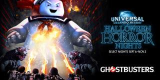 Ghostbusters house at Universal Orlando Halloween Horror Nights