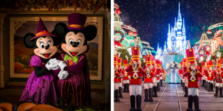 Mickey's Not So Scary Halloween Party and Mickey's Very Merry Christmas Party Ti